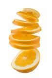 Oranje draai Stock Foto