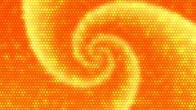 Oranje Draaiachtergrond met Helder Dots Effect Royalty-vrije Stock Foto's