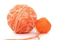 Oranje draden Royalty-vrije Stock Afbeeldingen