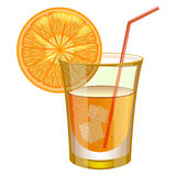 Oranje drank met fruit Stock Foto