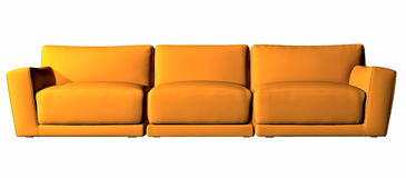 Oranje drie seaterlaag Stock Foto