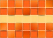 Oranje driedimensionele tegels - illusie Stock Afbeeldingen