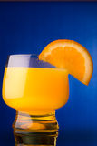 Oranje drink sap Royalty-vrije Stock Afbeeldingen