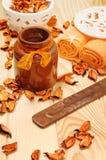 Oranje droge bloemblaadjes voor Kuuroordontspanning Royalty-vrije Stock Foto