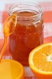 Oranje eigengemaakte jam. Royalty-vrije Stock Afbeelding