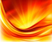 Oranje elegante abstracte illustratie als achtergrond Royalty-vrije Stock Afbeelding