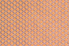 Oranje en blauw uitstekend de textuurbehang van de patroonstof backgr Stock Afbeeldingen