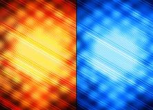 Oranje en blauwe abstracte achtergronden Stock Afbeeldingen