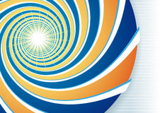 Oranje en blauwe spiraal Stock Foto's