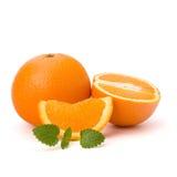 Oranje en citron muntblad Royalty-vrije Stock Afbeeldingen