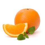 Oranje en citron muntblad Royalty-vrije Stock Afbeelding