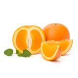 Oranje en citron muntblad Stock Foto