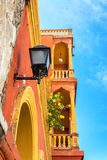 Oranje en Geel Balkon royalty-vrije stock afbeelding