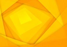 Oranje en gele abstracte document achtergrond Stock Fotografie