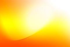 Oranje en gele achtergrond met krommen Stock Foto
