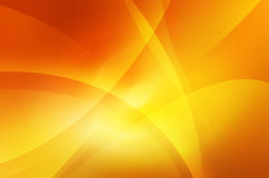 Oranje en gele achtergrond van abstracte warme krommen Royalty-vrije Stock Fotografie
