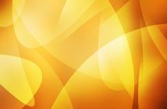 Oranje en gele achtergrond van abstracte warme krommen Stock Foto