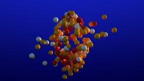 Oranje en gele ballen stock illustratie
