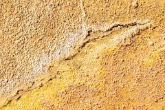 Oranje en Gele textuur op het gebied van Rio Tinto-mijnen, Minas royalty-vrije stock afbeelding