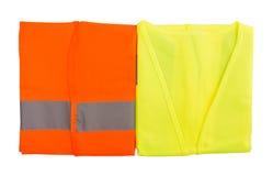 Oranje en Groen Weerspiegelend Vest I royalty-vrije stock foto's