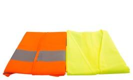 Oranje en Groen Weerspiegelend Vest II stock fotografie