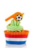 Oranje en groene cupcake Royalty-vrije Stock Foto's