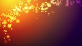 Oranje en purpere abstracte glanzende lichten videoanimatie stock videobeelden