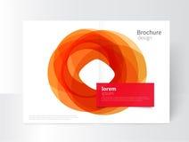 Oranje en rode cirkels Stock Illustratie