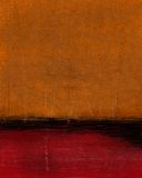 Oranje en Rood Abstract Art Painting Stock Foto's
