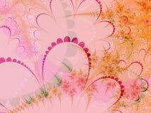 Oranje en roze pastelkleurvormen Stock Afbeelding