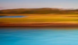 Oranje en Turkooise Samenvatting van Water en Land Royalty-vrije Stock Afbeeldingen