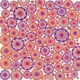 oranje en violette vormenachtergrond Stock Foto
