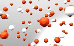 Oranje en witte ballen Stock Fotografie