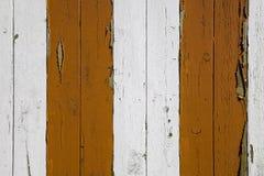 Oranje en witte geschilderde strepen Stock Foto's
