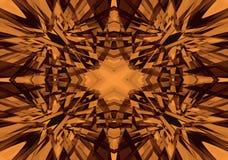 Oranje en zwart caleidoscooppatroon Stock Foto's