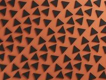 Oranje en zwarte twee kleuren geweven achtergrond Stock Fotografie