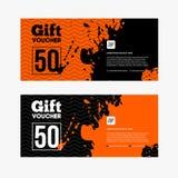 Oranje en zwarte Verkoopcoupon Stock Foto's