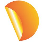 Oranje etiket Royalty-vrije Stock Foto's