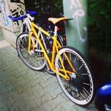 Oranje fiets Stock Afbeelding