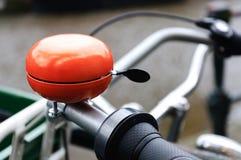 Oranje fietsklok Stock Afbeeldingen
