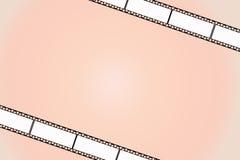 Oranje filmachtergrond Stock Foto