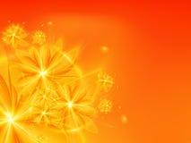 Oranje fractal achtergrond Royalty-vrije Stock Foto's