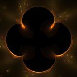 Oranje fractal frame Royalty-vrije Stock Foto