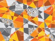 Oranje fragmentencirkels Royalty-vrije Stock Foto