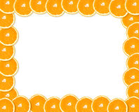 Oranje frame Stock Foto