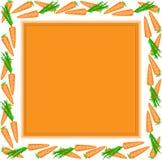Oranje frame van wortelen Stock Afbeeldingen