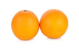 Oranje fruit dat op witte achtergrond wordt geïsoleerdi Stock Afbeeldingen