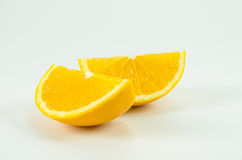 Oranje fruit op wit Stock Foto