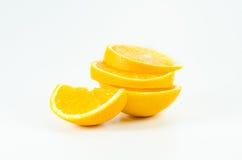 Oranje fruit op wit Royalty-vrije Stock Afbeelding