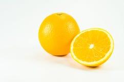 Oranje fruit op wit Stock Afbeeldingen